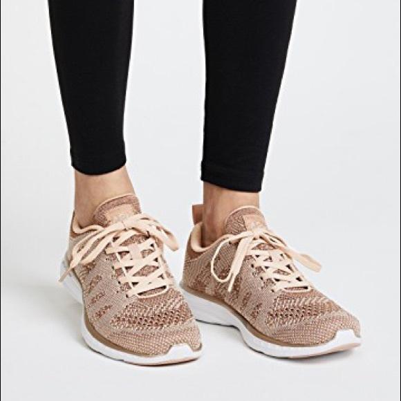 apl rose gold sneakers